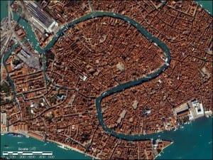 Kuş bakışı Venedik